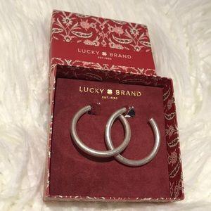 Lucky Brand silver hoop earrings